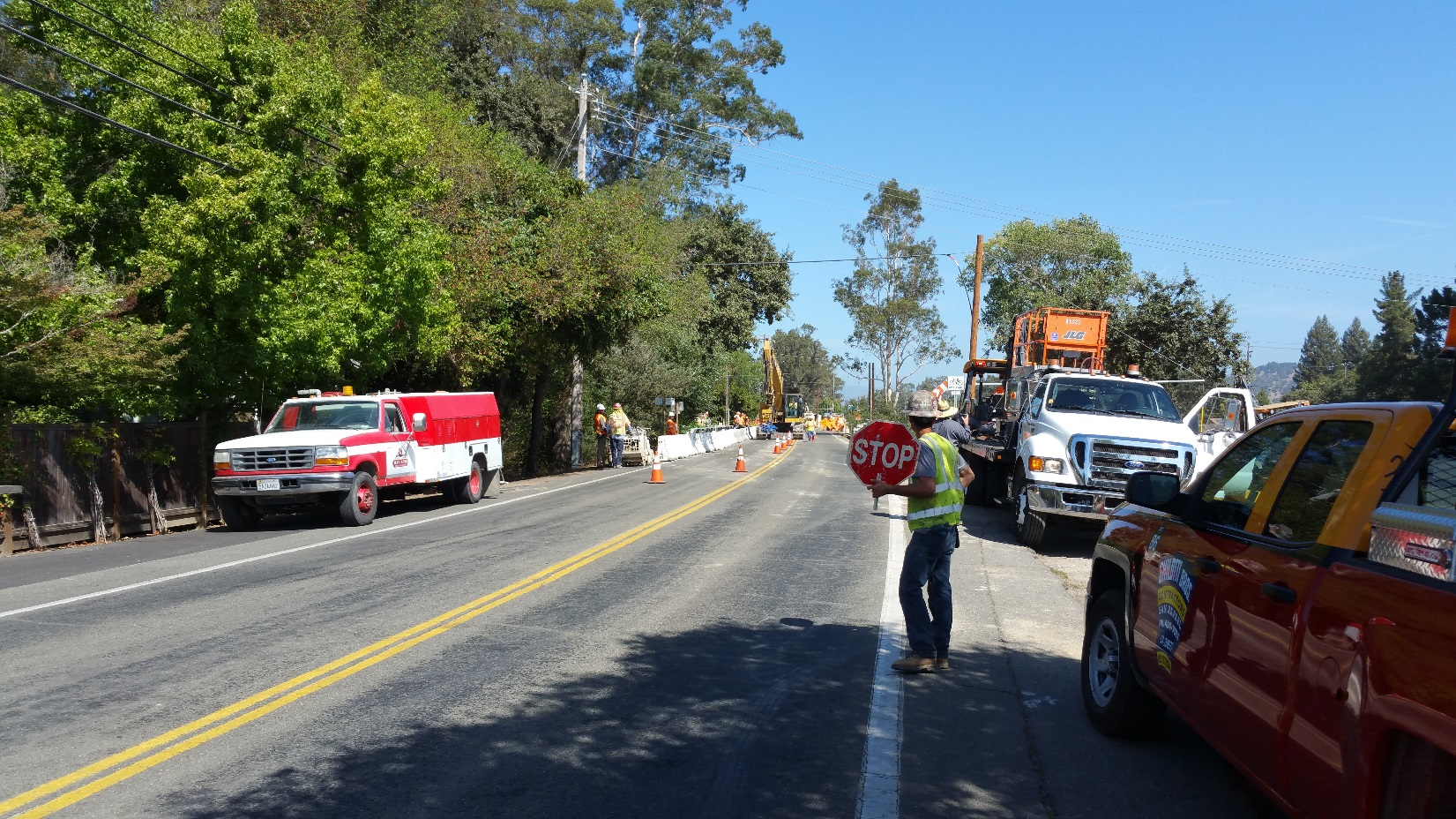 Realignment Work at Solano Avenue Drycreek Bridge
